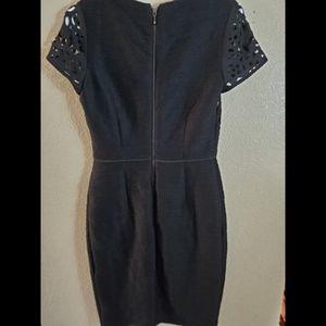 Anthropologie Dresses - Anthropologie Maeve Black Lasercut Floral Dress